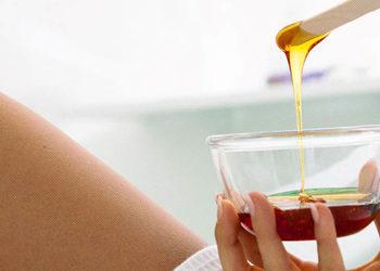 Visage Salon kosmetyczny - depilacja woskiem - uda i kolana