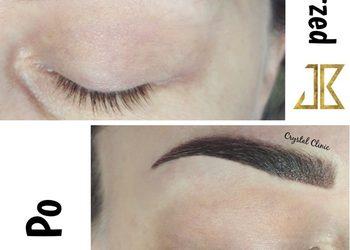 Crystal Clinic - makijaż permanentny ombre lub pudrowy brwi