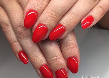 M-NAILS - manicure hybrydowy jeden kolor