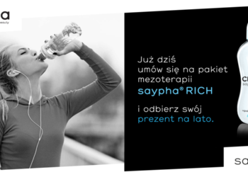 Klinika JustSkin  - saypha rich 1ml ugaś pragnienie skóry + bidon z filtrem węglowym