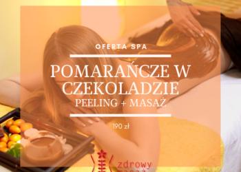 Zdrowy Masaż hotel Falko - pomarańcze w czekoladzie-peeling i masaż