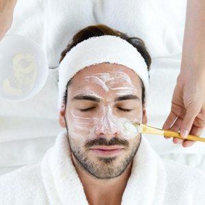 Cleansing facial for men