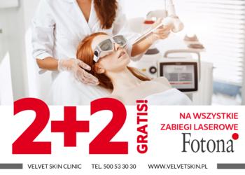 Velvet Skin Clinic - fotona zabiegi laserowe 2+2 gratis! / fotona laser treatments 2 + 2 free!