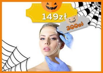 J|Klinik - zabieg aktywnie liftingujący (peeling kawitacyjny, fale radiowe na twarz, szyję i dekolt oraz okolice oczu, ampułka, maska, masaż, maska algowa) - jesienna promocja
