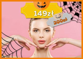 J|Klinik - zabieg odżywczo-regenerujący z aminokwasami i kwasem hialuronowym (peeling kawitacyjny, ampułka, mezoterapia bezigłowa, maska, masaż, maska algowa) - jesienna promocja