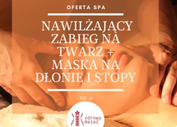 Zdrowy Masaż hotel Falko - intensywnie nawilżający zabieg na twarz+maska na dłonie i stopy