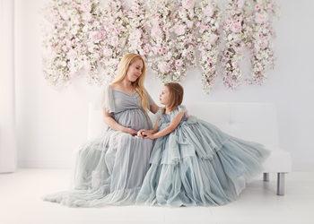 Studio Fotograficzne Karolina Magnowska - sesja ciążowa - kwiatowa