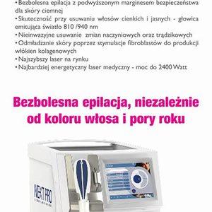 DAY SPA INNOWACJE - Laser Diodowy MedioStar - usuwanie owłosienia - WĄSIK Mężczyzna - 250zł, 150 zł