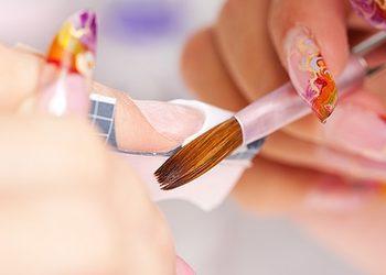 Stylistka Paznokci - Ewelina Kopczyńska-Baraniuk - paznokcie żelowe przedłużane na szablonie kolor